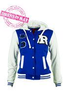 """Куртка """"Оксфорд"""" детская, цвет синяя-белая, рост 122-128"""
