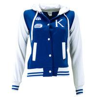 """Куртка """"Оксфорд"""" детская, цвет синяя-белая, рост 134"""