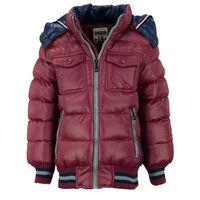 """Детская зимняя куртка для мальчиков вишневого цвета.  Фирма """"Under 18"""".  Рост:128"""
