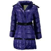 Детская зимняя куртка для девочки фиолетового цвета, 152 рост
