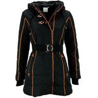 Детская зимняя куртка для девочки черного цвета, 104 рост