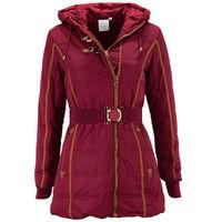 Детская зимняя куртка для девочки красного цвета, 116 рост