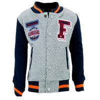 """Куртка для мальчиков """"Оксфорд"""", цвет серый-синий рост 128"""