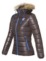 Куртка женская зимняя Nebulus Hyper, коричневая, с капюшоном, Оригинал, Германия