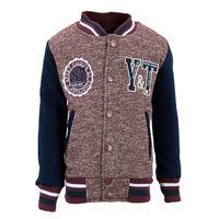 """Куртка для мальчиков """"Оксфорд"""", цвет коричневый-синий рост 128"""