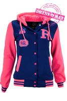"""Куртка детская """"Оксфорд"""", цвет синий-розовый рост 122-128"""