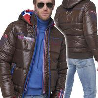 Куртка зимняя мужская Nebulus HAWK, коричневая, с капюшоном, Оригинал, Германия