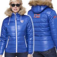Куртка женская зимняя Nebulus Hyper, синяя, с капюшоном, Оригинал, Германия