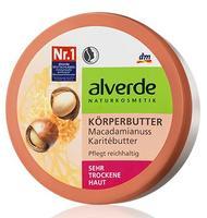 Alverde Korperbutter Macadamianuss Karitebutter - Масло для тела с карите и макадамией для сухой кожи. 200мл. (Германия)
