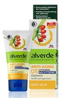 Alverde Anti-Aging Q10 Vitamin Nachtcreme (+30) - Антивозрастной ночной крем с ягодами Годжи. 50мл.(Германия)