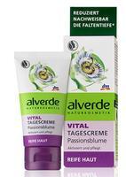 Alverde Vital Tagescreme Passionsblume -Дневной крем для лица для зрелой кожи.(+40-45лет) 50мл. (Германия)
