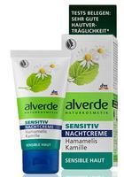 Alverde Sensitiv Nachtcreme Hamamelis Kamille - Ночной крем с экстрактами гамамелиса и цветка ромашки для чувствительной кожи (Германия)