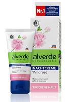 Alverde Nachtcreme Wildrose - Ночной крем с дикой розой для сухой кожи. 50мл. (Германия)