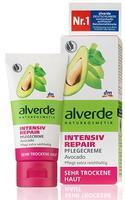 Alverde Intensiv Pflegecreme Avocado - Дневной Интенсивный восстанавливающий крем для лица с маслом авокадо, маслом ши и экстрактом ромашки для очень сухой кожи. 50мл. (Германия)