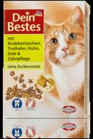 Dein Bestes mit Knabbertaschen & Zahnpflege - сухой корм для кошек + защита зубов. (Германия) 1 кг.
