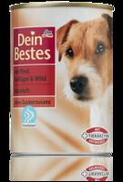 Dein Bestes mit Rind, Geflügel & Wild - klassisch - корм для собак. (Германия) 400гр.