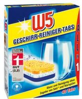 W5 All-in-1 Geschirr-Reiniger-Tabs таблетки для посудомоечных машин (Германия) 40 таб. 0.8 кг.