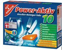 GUT&GÜNSTIG Power Aktiv 10 Geschirrreiniger-Tabs таблетки для посудомоечных машин (Германия) 40 таб. 0.8 кг.
