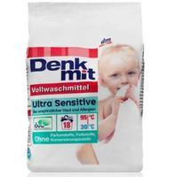 Denkmit Vollwaschmittel Ultra Sensitive - стиральный порошок для детского белого и белья для людей с чувствительной кожей или аллергией на бытовую химию (Германия) 1,215 кг (18стирок)