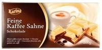 Шоколад Karina Feine Kaffee Sahne – белый с кофейным кремом, 200гр. Германия