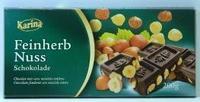 Шоколад Karina Feinherb Nuss – Лесной Орех, черный шоколад, 200гр. Германия