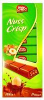 Шоколад Mister Choc молочный с начинкой Nuss Crisp 11 ригелей, 200гр. Германия