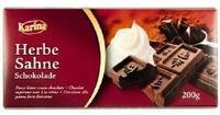 Шоколад Karina Herbe Sahne Черный шоколад с альпийским кремом, 200гр. Германия