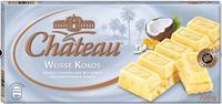Шоколад Chateau Weisse Kokos - белый немецкий шоколад с кокосом, 200гр. Германия