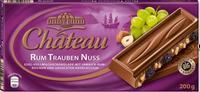 Шоколад Chateau Rum Trauben Nuss - Молочный шоколад с дробленными орехами, изюмом и ромом., Германия