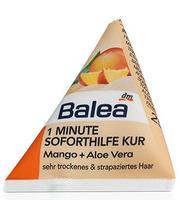 Balea 1 Minute Soforthilfe Kur Mango+Aloe Vera - 1 минутная маска с экстрактом манго для сухих и поврежденных волос (Германия) 25 мл.