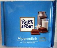 Шоколад Ritter Sport молочный Alpenmilch 100гр., Германия
