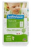 Babylove nature Oko-Windeln Mini 3-6 kg подгузники для детей 3-6кг. (Германия) 42 шт.