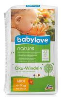 Babylove nature Oko-Windeln Midi 4-9 kg подгузники для детей 4-9 кг.(Германия) 46 шт.