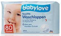 Babylove  feuchte Waschlappen влажные салфетки 80шт. (Германия)