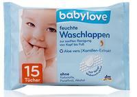 Babylove  feuchte Waschlappen влажные салфетки 15шт. (Германия)
