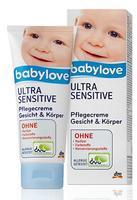 Babylove Ultra Sensitive Pflegecreme Gesicht & Korper - крем для лица и тела для ультра чувствительной кожи (Германия) 100мл.