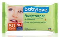 Babylove Feuchttücher влажные салфетки с Алоэ вера и экстрактом ромашки (Германия) 80 шт.