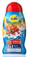 Saubar 2 in 1 Dusche + Shampoo Erdbeere - душ+шампунь 2 в 1 для детей - клубника (Германия) 250 мл.
