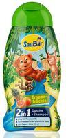Saubar 2 in 1 Dusche + Shampoo Tropenfruchte - душ+шампунь 2 в 1 для детей - тропические фрукты (Германия)  250 мл.