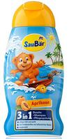 Saubar 3in1, Dusche + Shampoo + Pflegespülung Aprikose - душ + шампунь + кондиционер абрикос (Германия) 250 мл.