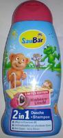 Saubar 2in1, Dusche + Shampoo Himbeere Litschi - душ + шампунь малина (Германия) 250 мл.