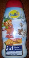 Saubar 2 in 1 Dusche + Shampoo Mandel- Orange - душ+шампунь 2 в 1 для детей - Миндаль - апельсин (Германия) 250 мл.