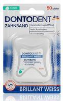 Отбеливающая зубная нить Dontodent Zahnband Brillant-weiss 50 метров (Германия)