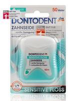 Зубная нить Dontodent Sensitive Floss для чувствительных зубов и десен. (Германия) 50 м.