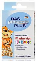 Pflasterstrips für Kinder - Дышащий, водо-и грязеотталкивающий пластырь полоски для детей в двух размерах. (Германия) 20 штук=10 Strips 19 x 72 mm + 10 Strips 19 x 52 mm