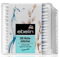 Ebelin 200 Wattestäbchen Box ватные палочки с хлопком гигиеническим и нежным.(Германия) 200 шт.