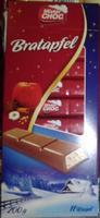 Шоколад Mister Choc Bratapfel молочный с начинкой яблоко 11 ригелей. 200гр. Германия