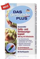 Das gesunde Plus Galle- und Verdauungskapsel 400 mg mit Artischocke - Для использования при жалобах с пищеварением. (Германия) 60капсул