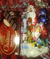 Шоколадный дед Мороз с шоколадными игрушками Высота 25см., 250гр. Германия