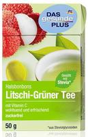 Das gesunde plus Halsbonbons Litchi-Grüner Tee mit vitamin C - Dm Das gesunde plus Конфеты от горла Личи-Зеленый Чай с витамином C. (Германия) 50 гр.